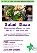 Salad Daze. Foraging for salads & teas.