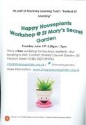 Happy Houseplants Workshop @ St Mary's Secret Garden