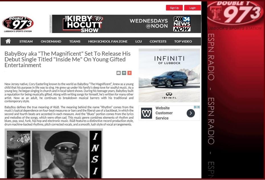 97.3 FM Radio Featuring Baby Boy Inside Me