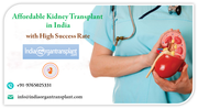 Affordable Kidney Transplant in India with High Success Rate