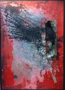 Vier Farben Wut 2016 140cm x 100cm Öl Acryl auf Metall und Leinen