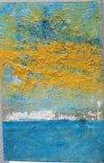 Tryptichon Bild 3 Den dritten Tag Sehnsucht 2017 77cm x 115 cm Öl Acryl auf Leinwand