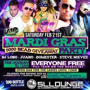 Sex-c Saturdays Mardi Gras Party at SL Lounge