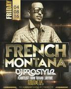 French Montana Live With DJ Prostyle At Amadeus Nightclub
