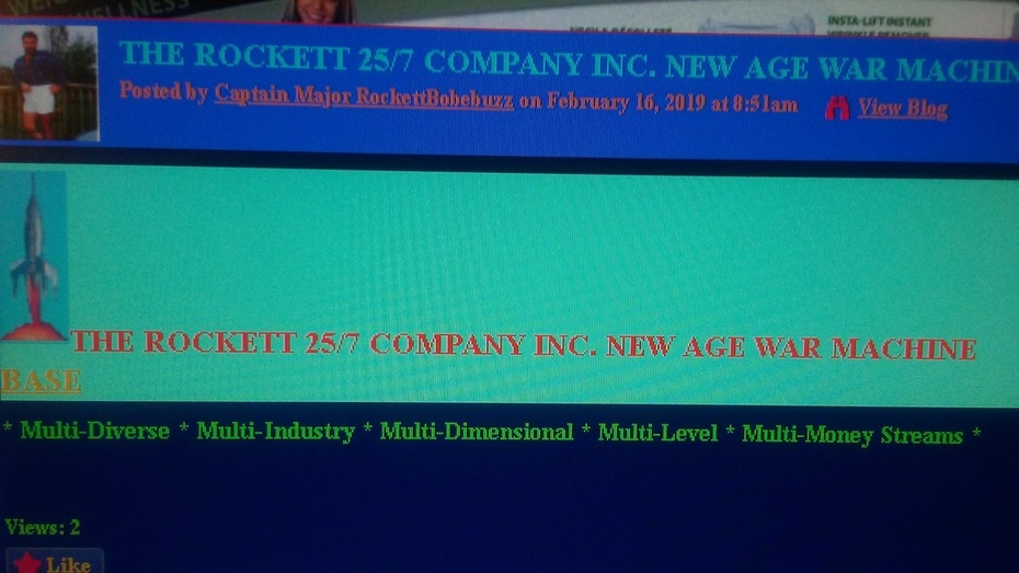 ROCKETTFORCE257-SCREEN-SHOTTZ THE ROCKETT 25/7 COMPANY INC. NEW AGE WAR MACHINE