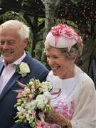 Happy day, flowers, dress & HATS by Emelle's millinery. Picture of joy! IMG_0008