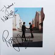 Pink Floyd WYWH LP signed by Roger Waters & Nick Mason