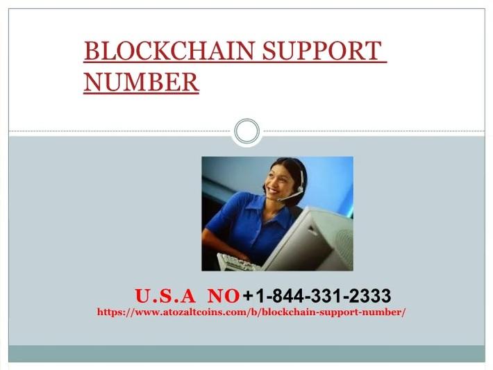 Blockchain support number +1 844 331-2333