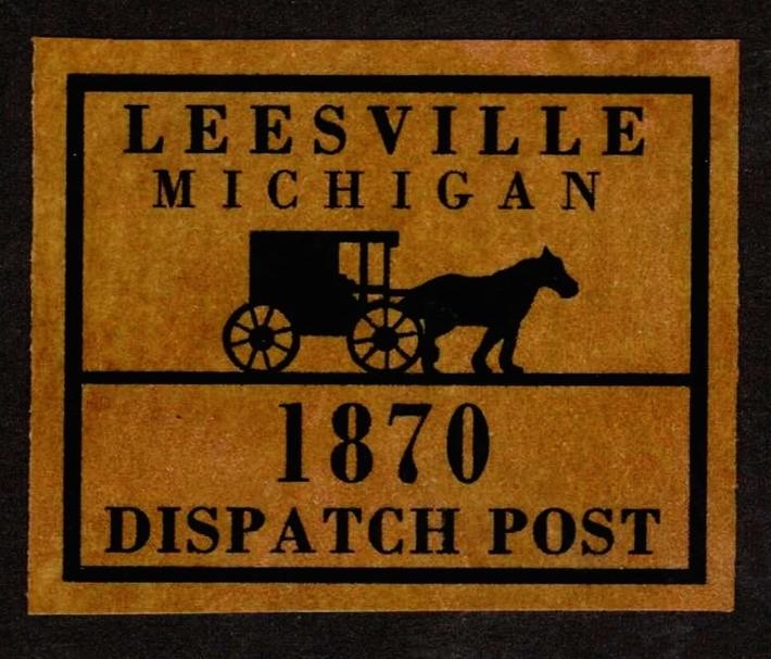 Leesville Michigan Local Artistamp Post