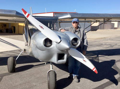 Ray Veatch with his completed STOL CH 750