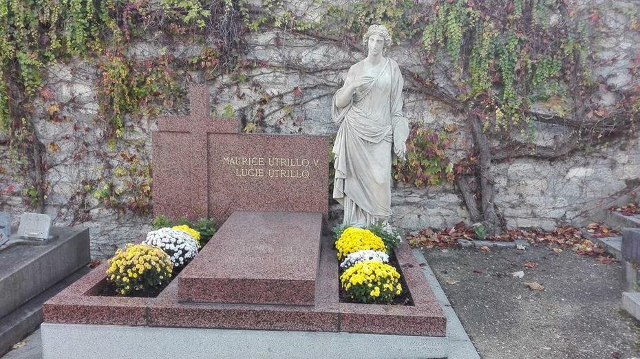 la tombe de Maurice Utrillo cImetière Saint Vincent Paris XVIII