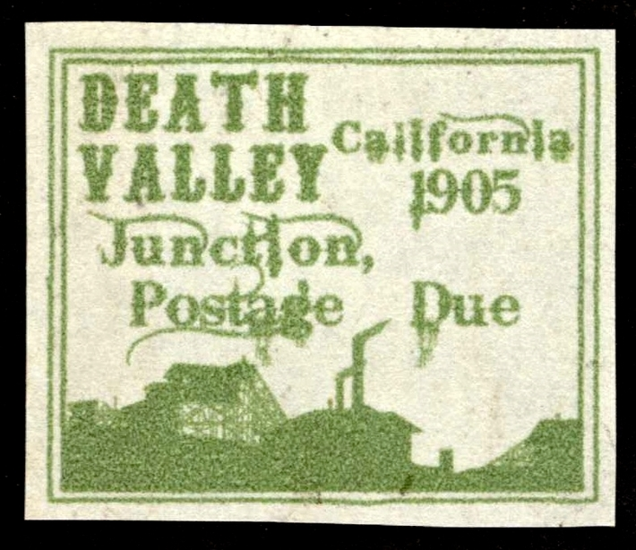 1905 Death Valley Junction Postage Due Artistamp