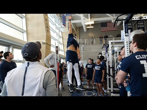 Scenes from Penn State football's winter workout