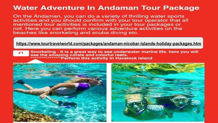 Water Adventure in Andaman Nicobar Holiday Package