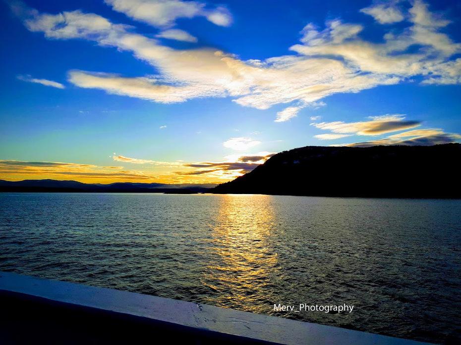 Sunset over Salt Spring Island