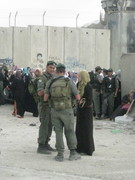 Discussion at Qalandia