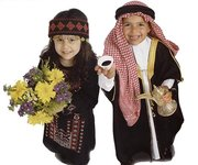 Children in traditional Arab dress