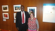 Me with Sudanese activist and refugee, Simon Deng