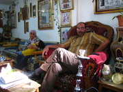 Khalil and Abeer in their parlour
