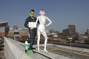 Woody & dummy  B'ham Rooftop & St Martins Church  493