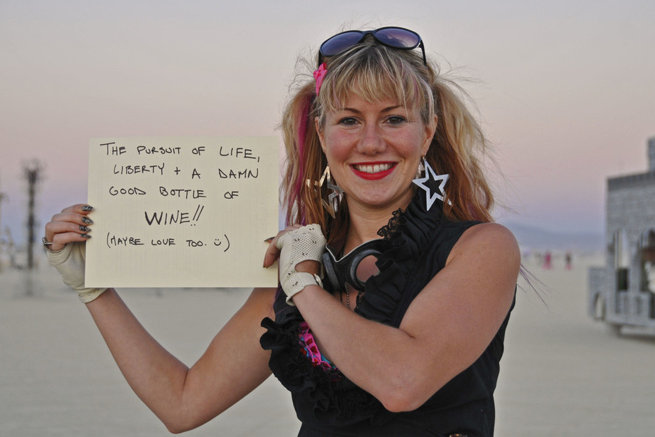 The pursuit of life, liberty & a DAMN good bottle of WINE!!  (maybe love too)