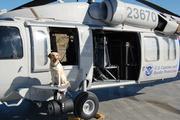 Terry McGrath's bomb dog Aretha's new ride