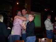 Chris having a good time dancing