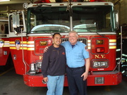 27 Truck, Lt. Mike Wilbur and I