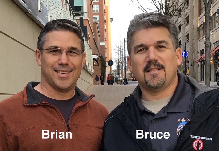 Brian and twin brother Bruce