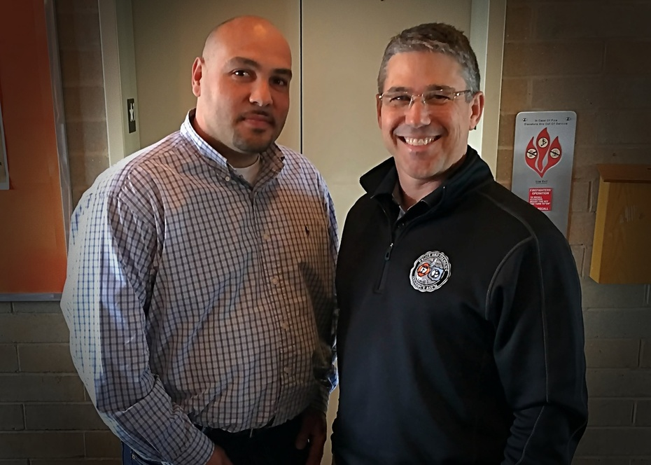 Brian with Retired Milwaukee Police Officer Vidal Colon