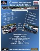 6th Annual All Generations Camaro & Firebird Show