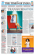 THE TIMES OF INDIA'S P1 DESIGN FOR UNOIN BUDGET-2011 SPECIAL