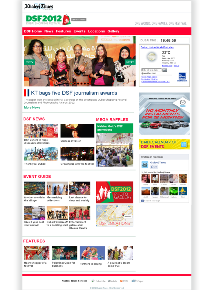 Khaleej Times -  Dubai Shopping Festival 2012 - DSF