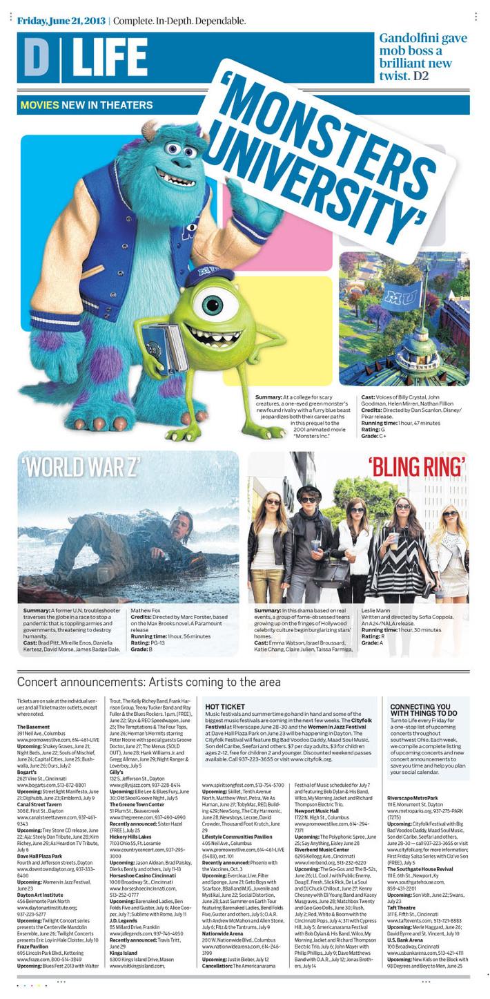 Dayton Daily News Life Cover