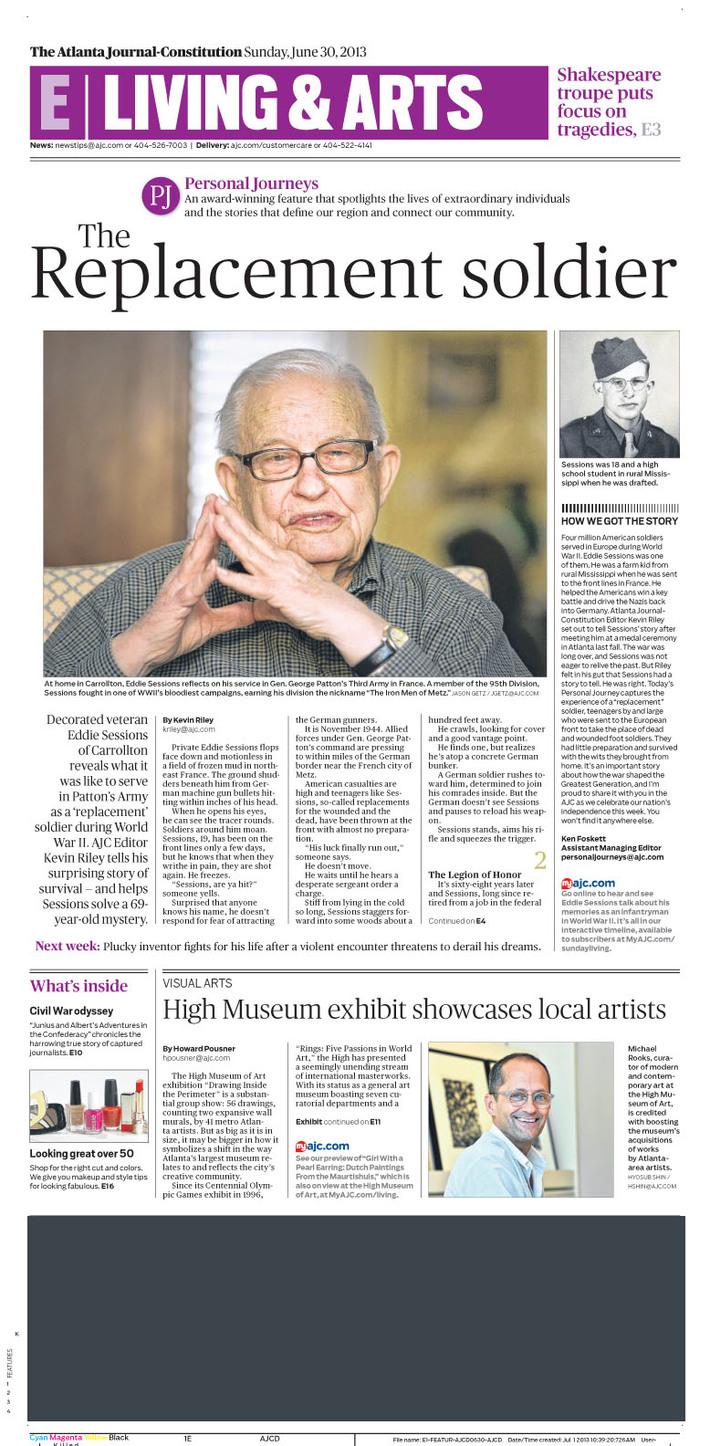 Atlanta Journal-Constitution Life Cover