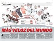 Un mexicano, el segundo futbolista más veloz del mundo