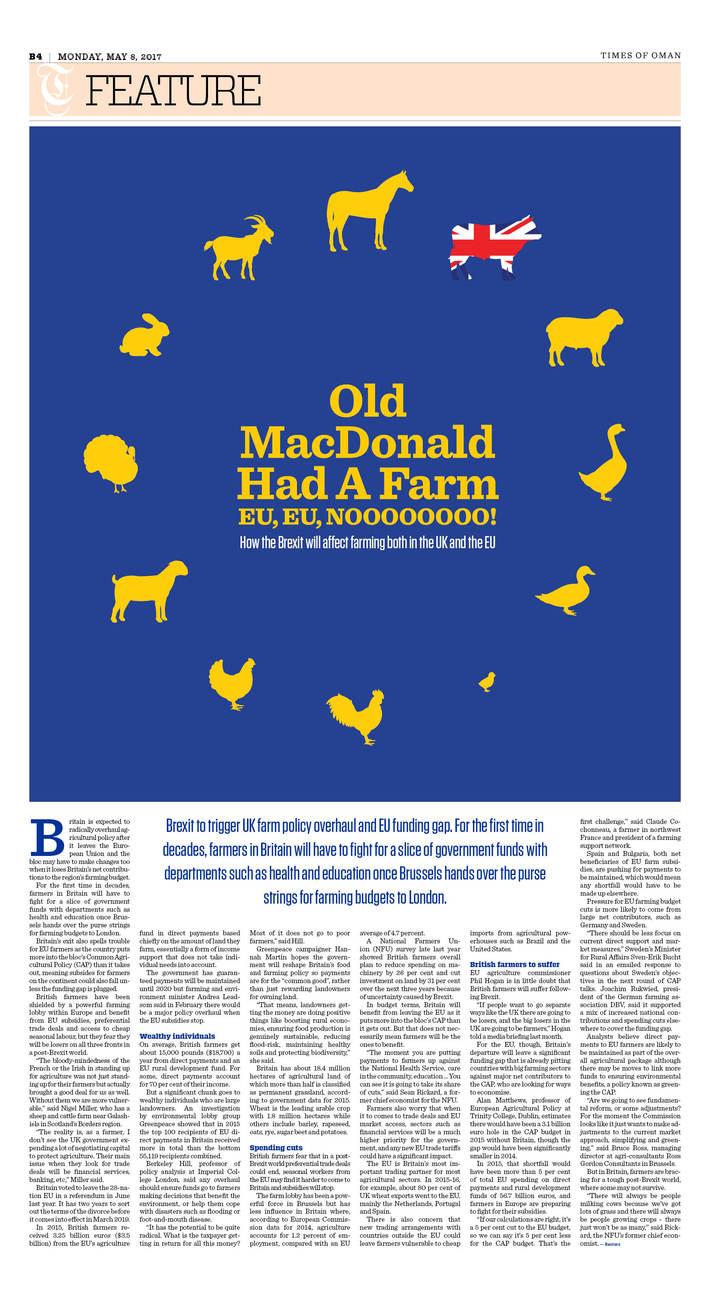 How Brexit will affect farming both in U.K. & EU