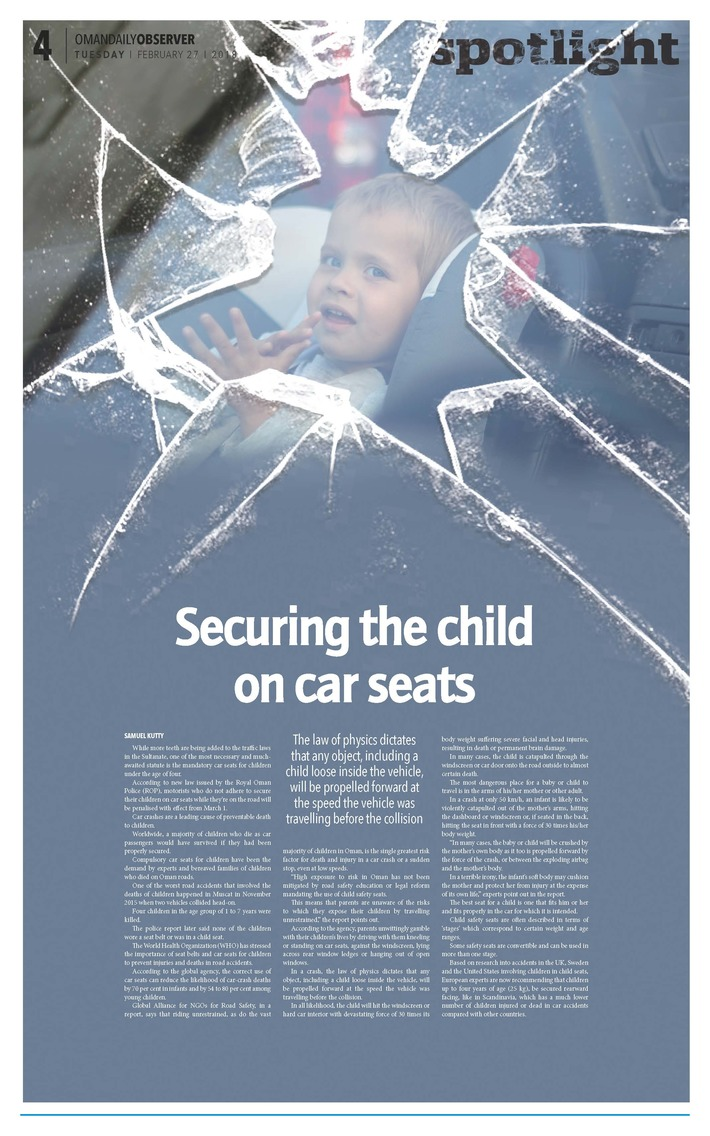 Securing the child on car seats