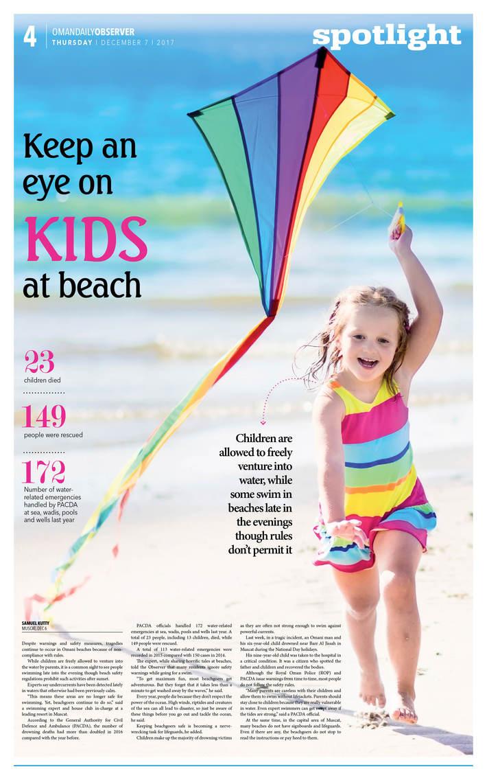 keep an eye on kids at beach
