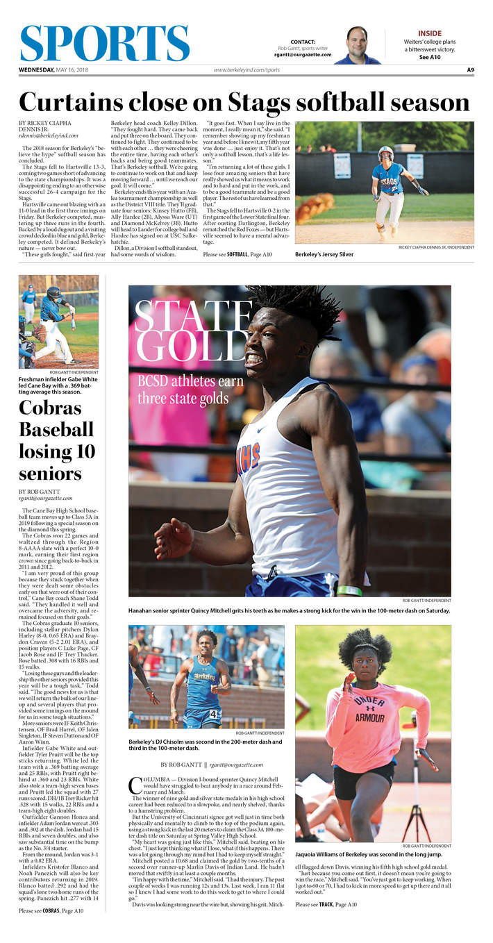 Berkeley Independent, Sports 05-16-18