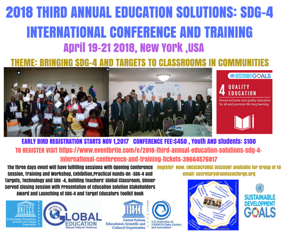 2018 THIRD ANNUAL EDUCATION SOLUTIONS- INTERNATIONAL CONFERENCE AND TRAINING