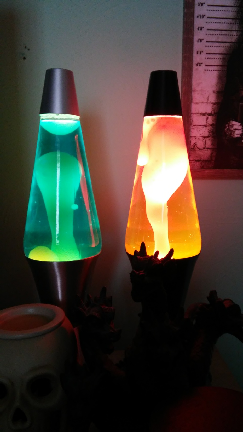 """both of my 90's 17"""" lamps"""