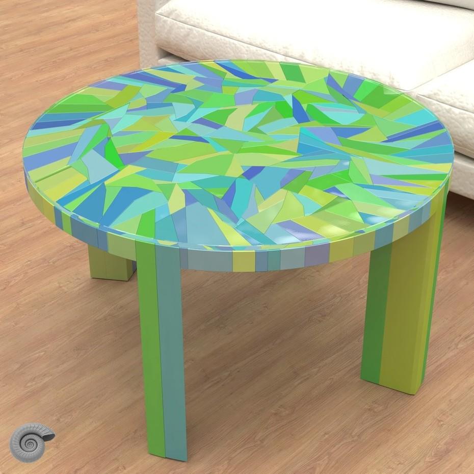 Gilbert tesselation low table