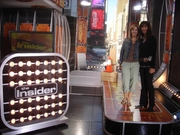Caryn and Randy on The Insider set
