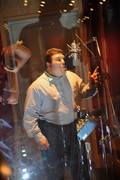 Cool looking sound booth photo...I am more animated than the copy was :-)