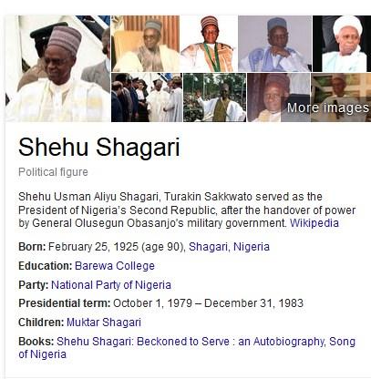 Shagari is ALIVE & WELL