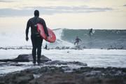 Winter swells are lighting up the coast