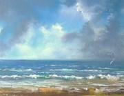 Plage océane  pastel sec ft 45x32