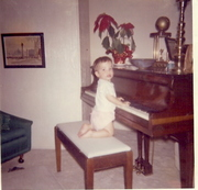 Terry Harrington at the Keyboard age two