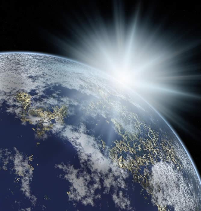 Light Shining on Earth